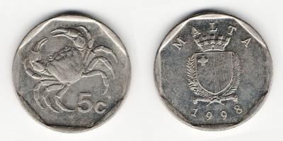 5 центов 1998 года
