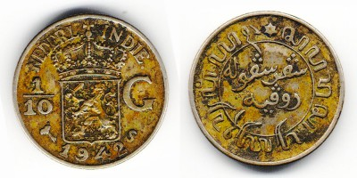 1/10 gulden 1942