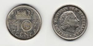 10 центов 1972 года