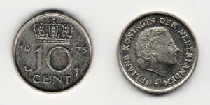 10 центов 1973 года