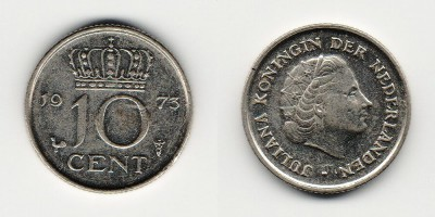 10 cents 1973