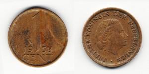 1 цент 1958 года