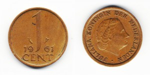1 цент 1961 года
