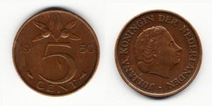 5 центов 1950 года