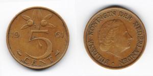5 центов 1961 года