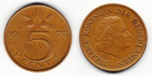 5 центов 1975 года