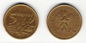 5 грошей 2003 года