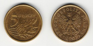 5 грошей 2007 года