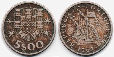 5 escudos 1963