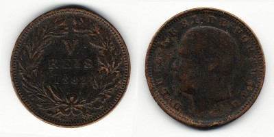5 reis 1882
