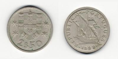 2.5 escudos 1982