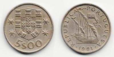 5 escudos 1981