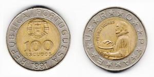 100 эскудо 1991 года