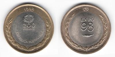 200 escudos 1998 Expo 98