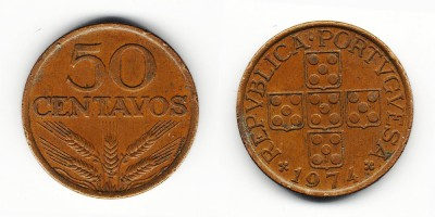 50 сентаво 1974 года