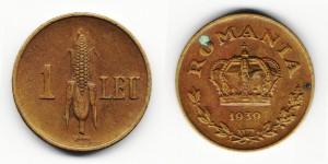 1 лей 1939 года