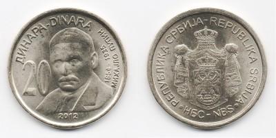20 динаров 2012 года