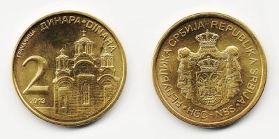 2 динара 2013 года