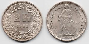 2 франка 1959 года
