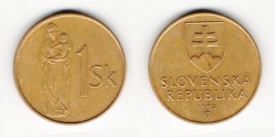 1 koruna 1994