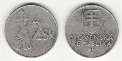 2 koruny 1993