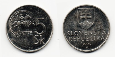 5 korun 1995