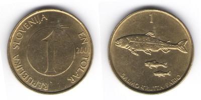 1 толар 2001 года