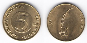5 толаров 2000 года