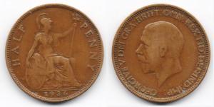 1/2 пенни 1936 года