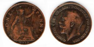 1 пенни 1913 года