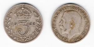 3 пенса 1922 года