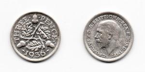 3 пенса 1936 года