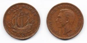 1/2 пенни 1937 года