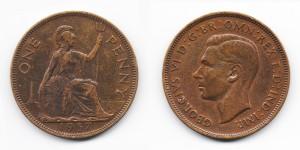 1 пенни 1937 года