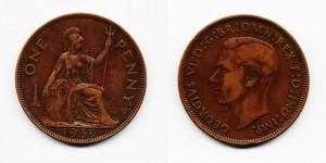 1 пенни 1939 года