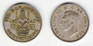 1 шиллинг 1947 года