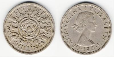 2 shillings (florin) 1955