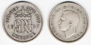 6 пенсов 1937 года