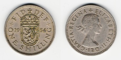1 shilling 1954