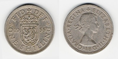 1 shilling 1955