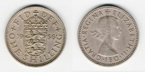 1 шиллинг 1956 года