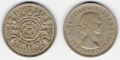 2 shillings (florin) 1964
