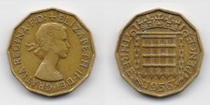 3 пенса 1956 года