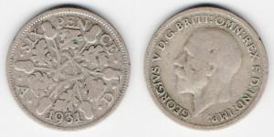 6 пенсов 1931 года