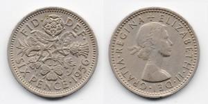 6 пенсов 1956 года