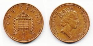 1 пенни 1987 года