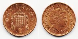 1 пенни 2001 года