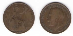1 пенни 1918 год