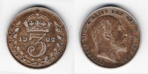 3 пенса 1902 года