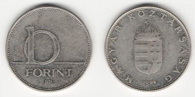 10 forint 2004